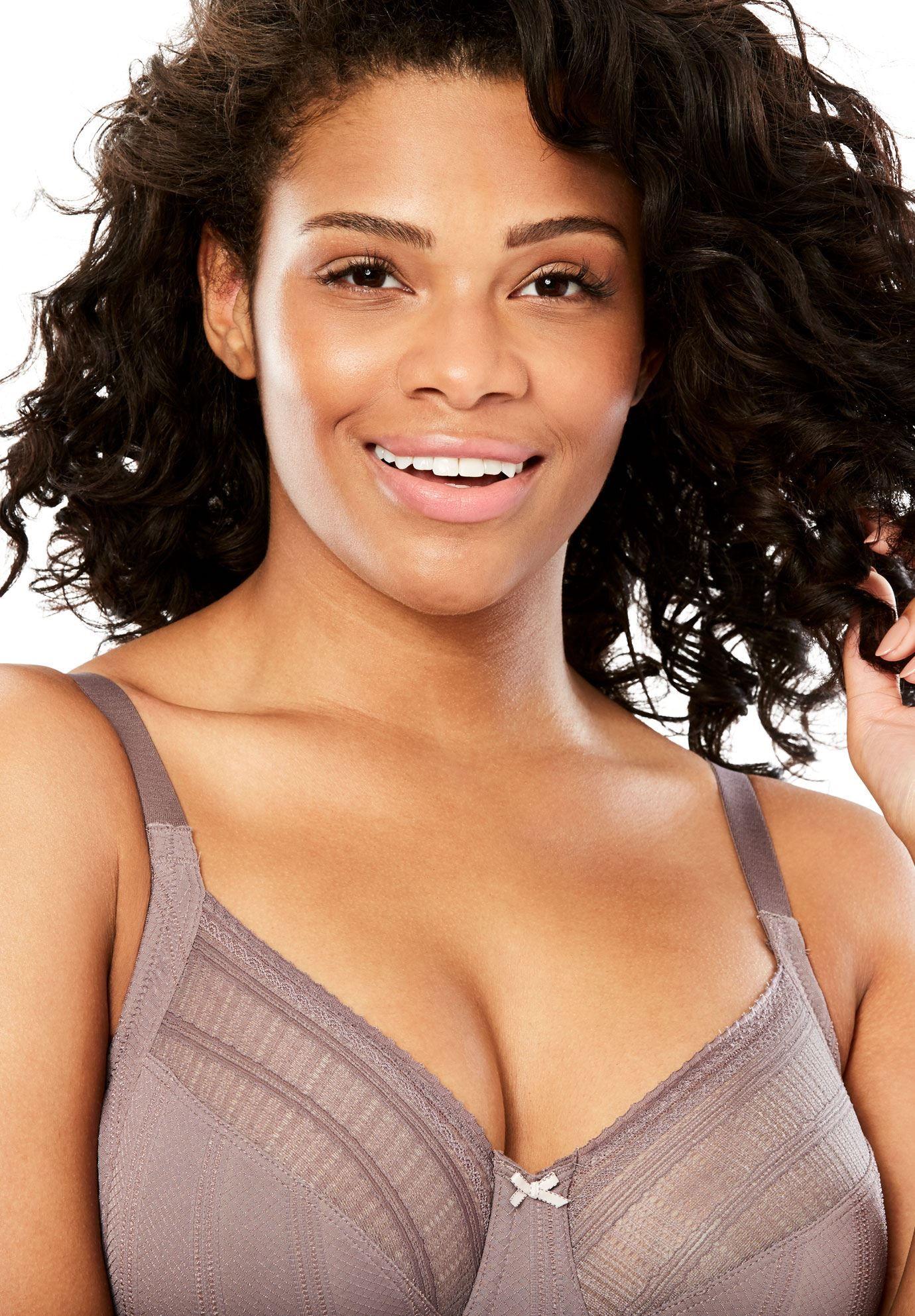 8645986102 Lilyette by Bali Enchantment Lace Minimizer Bra - Women s Plus Size Clothing