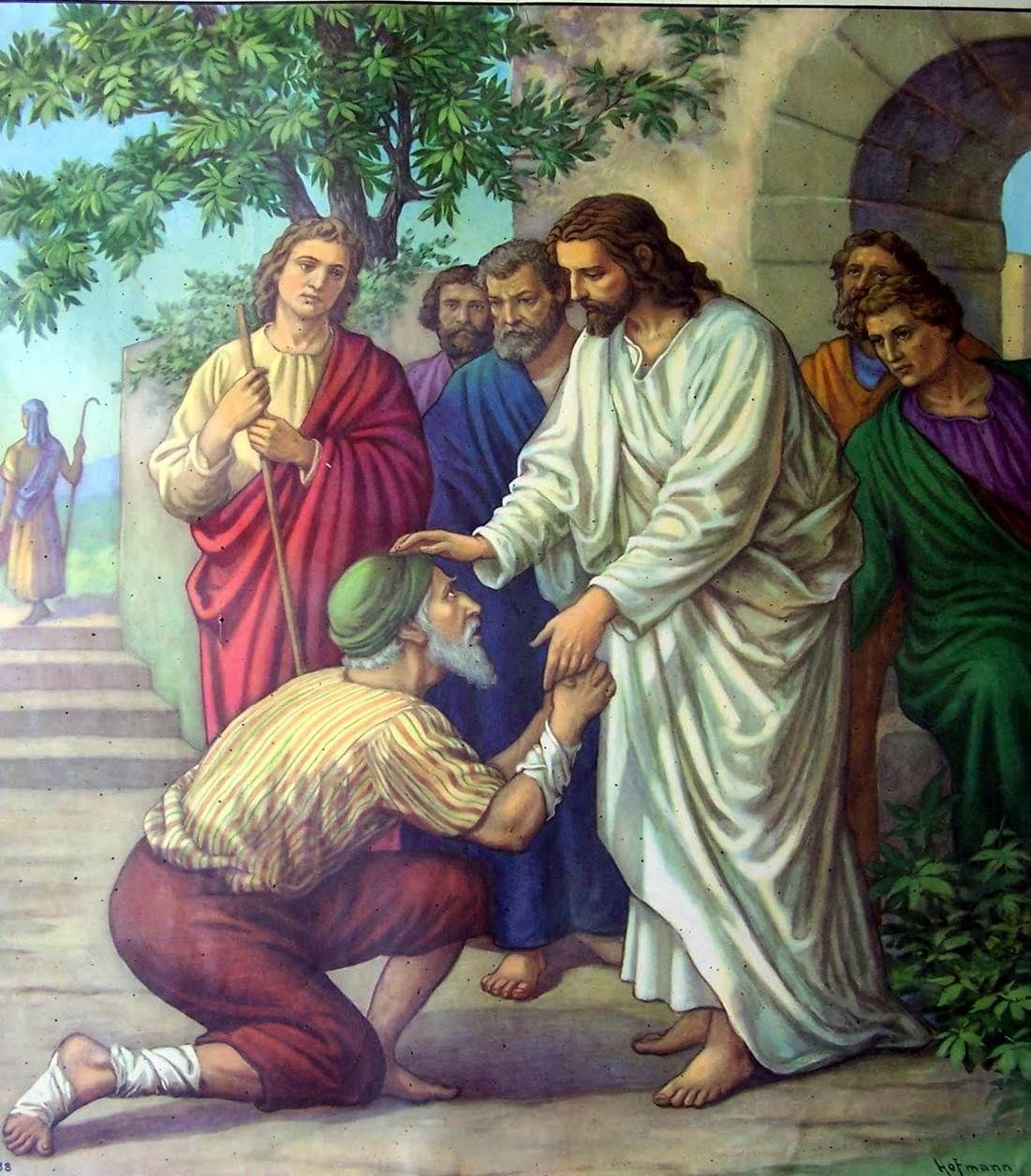 jesus heals a man with leprosy bible art for powerpoints