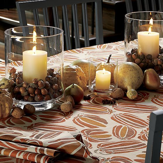 Taylor Hurricanes Fall Table Decor Fall Thanksgiving Decor Glass Hurricane Candle Holder