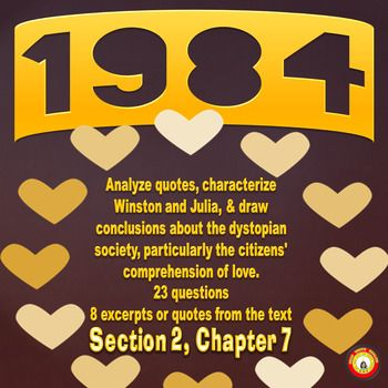 1984 Book 2 Chapter 7 Comprehension and Analysis Activity