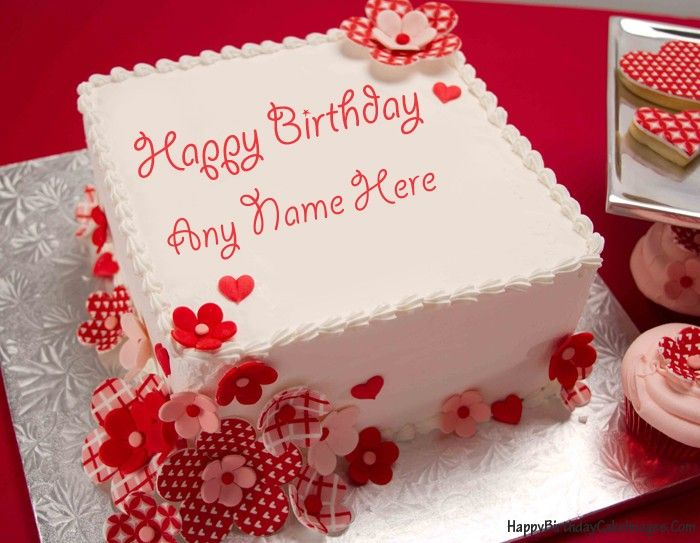 Create A Birthday Cake For Wife With Her Name On It Make