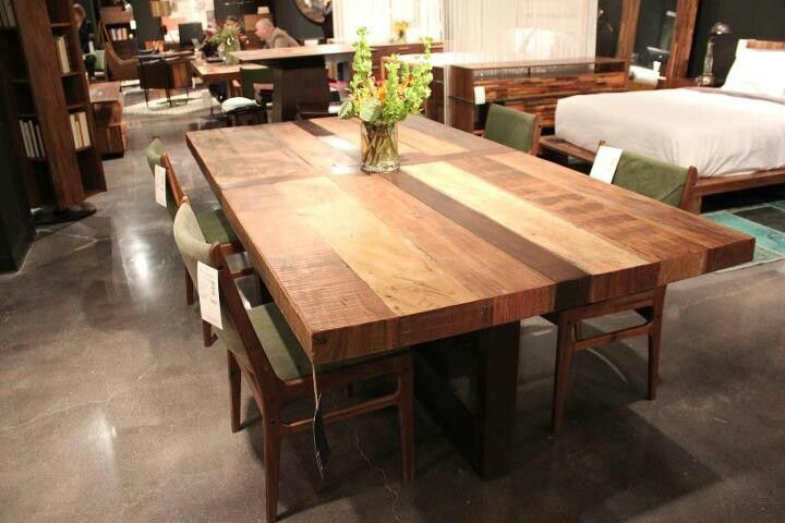 White Butcher Block Kitchen Table : Looks like a butcher block dining table Butcher block dining table, Dining room table ...