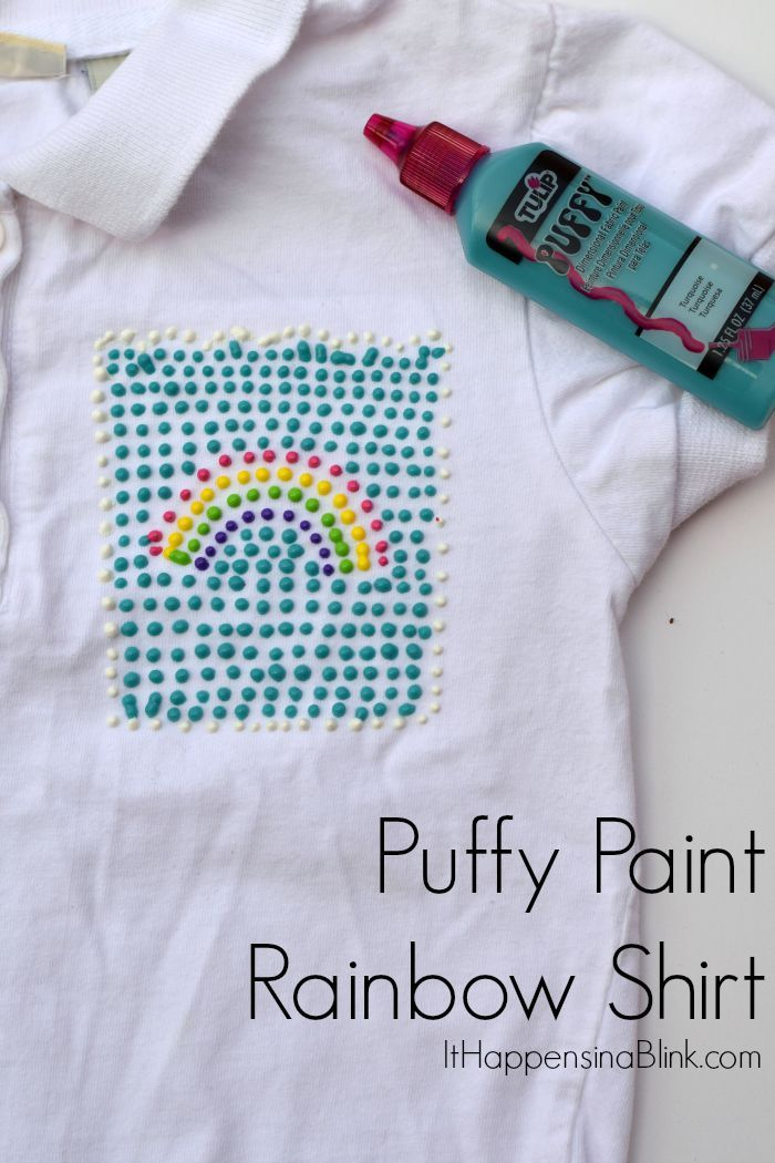 Puffy Paint Rainbow Shirt Use Puffy Paint To Make A Fun Rainbow