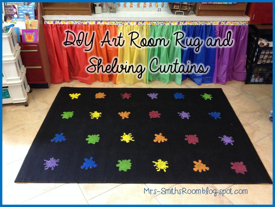 Classroom Decor Rugs ~ Mrs smith s room new look diy art rug and