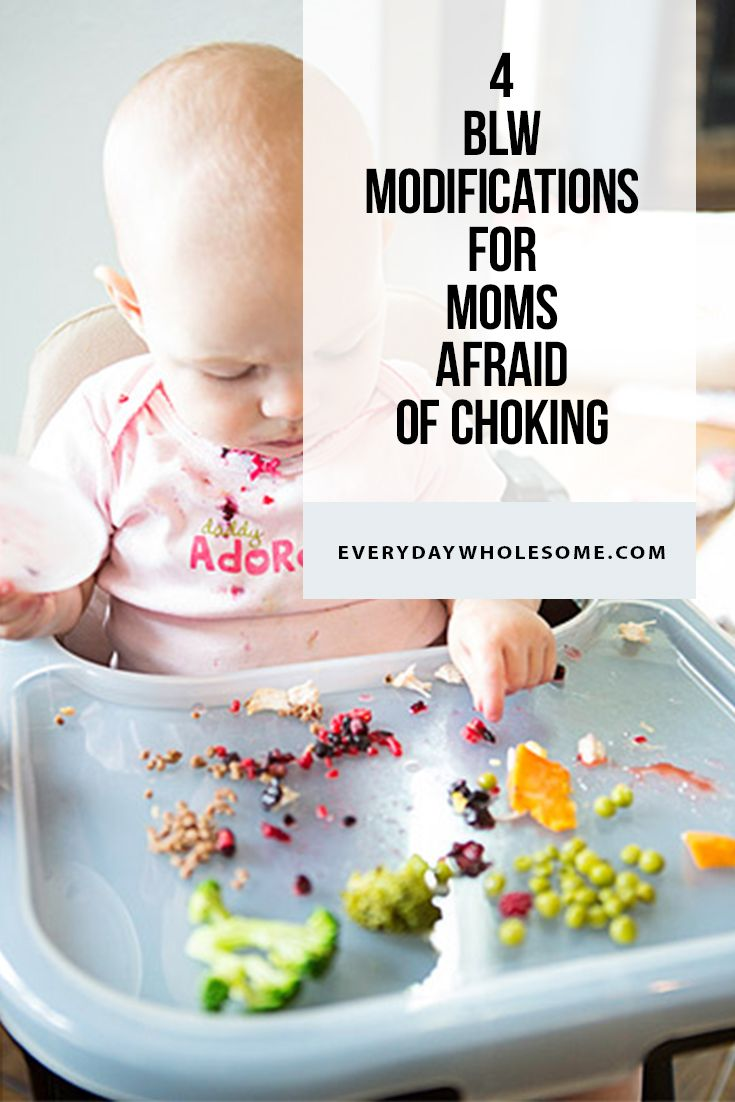 Baby led weaning hacks for tips and modifications with purees to prevent choking