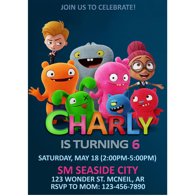 Ugly Dolls Invitation Ugly Dolls Birthday Invitation