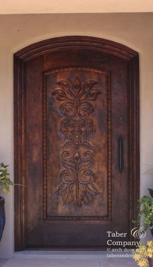 Taberandcompany Doors Custom Hacienda Style Door With Hand Carving Front Entry