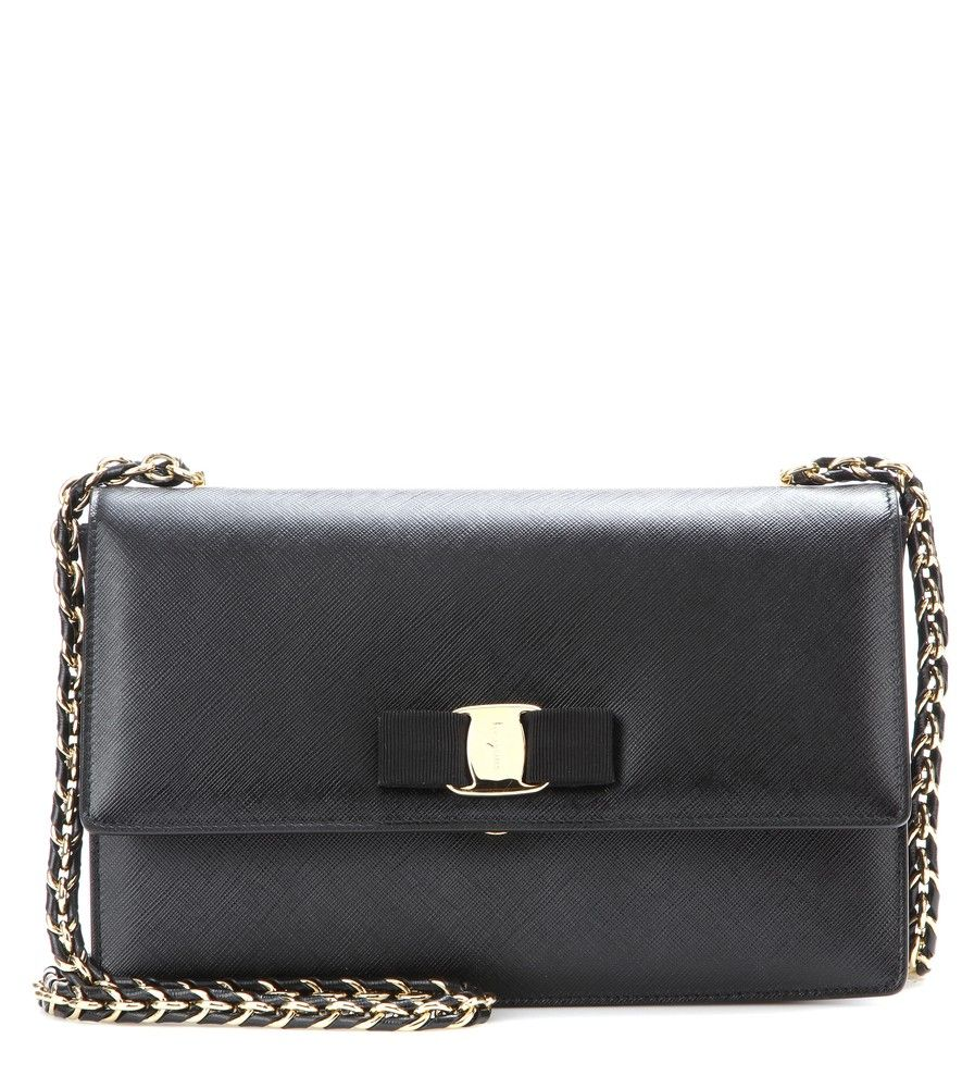 d94d2b455 Salvatore Ferragamo - Ginny leather shoulder bag - Give your look some  ladylike refinement with Salvatore Ferragamo's leather 'Ginny' shoulder bag.
