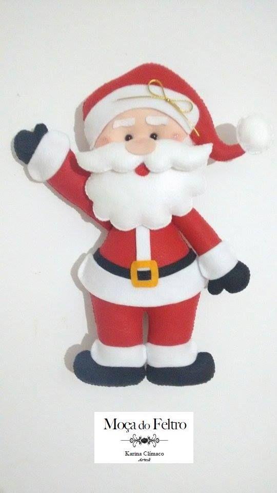 Patrones y Moldes de Santa Papa Noel | fomix | Christmas, Santa y ...