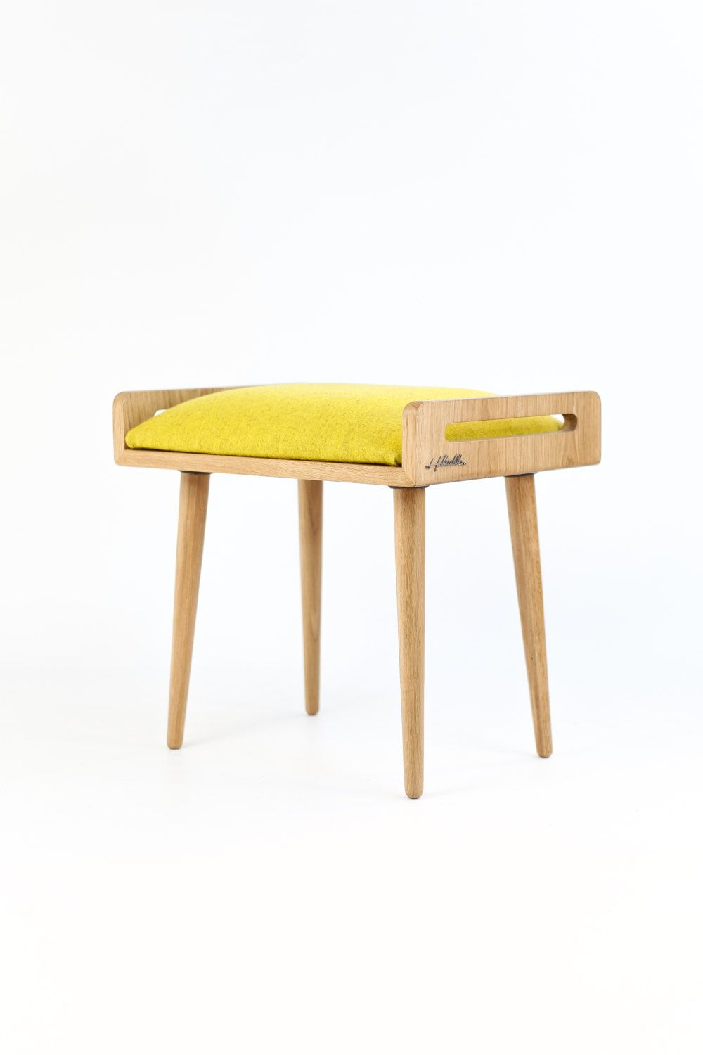 Stool / Seat / stool / Ottoman / bench made of solid by Habitables ...