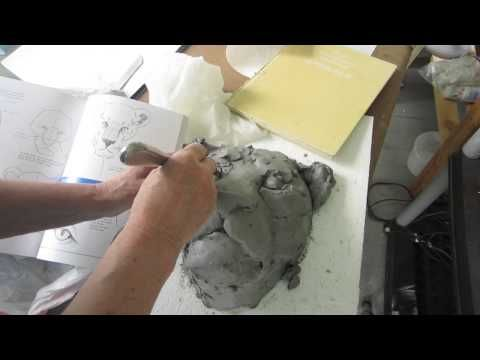 Concrete Garden Art – Making a Clay Lion Head Model | Ultimate Paper