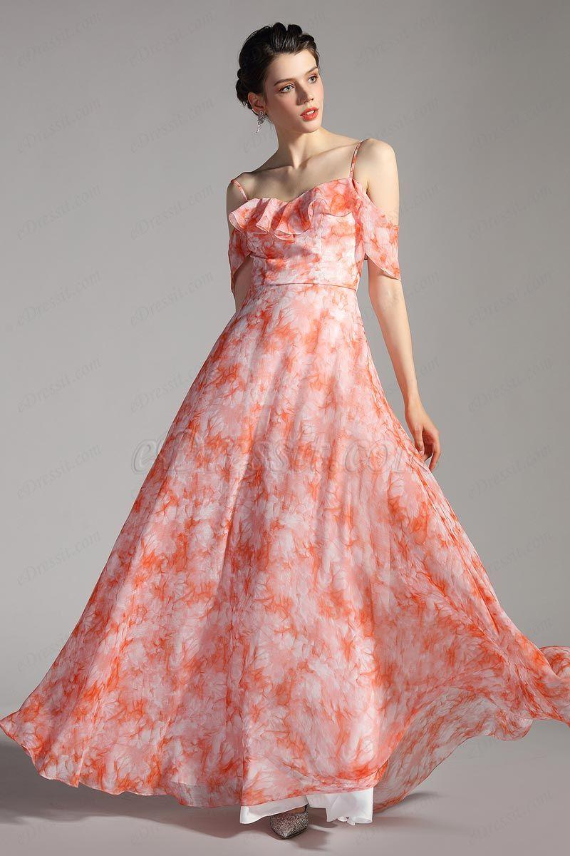 Edressit Spaghetti Freischulter Bedruckte Sommer Partykleid 00206968 Summer Party Dress Gorgeous Prom Dresses Party Dress [ 1200 x 800 Pixel ]