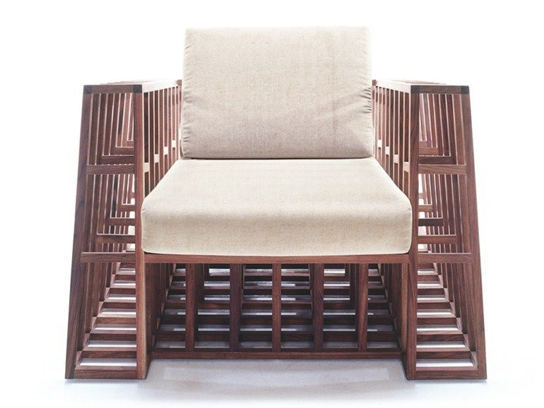 TILT! Poltrona in legno by KENNETH COBONPUE design Kenneth Cobonpue - Balou Rattan Mobel Kenneth Cobonpue