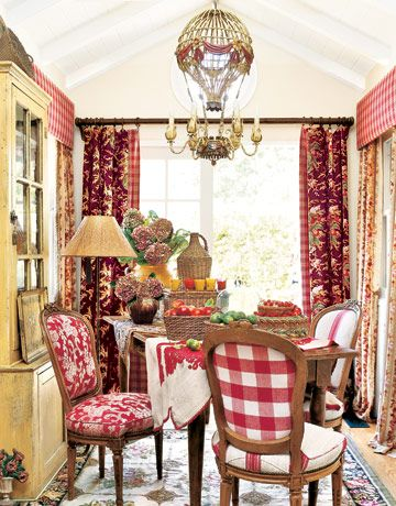 French Country Dining Room Ideas colorful room ideas | country french, country and mixing patterns