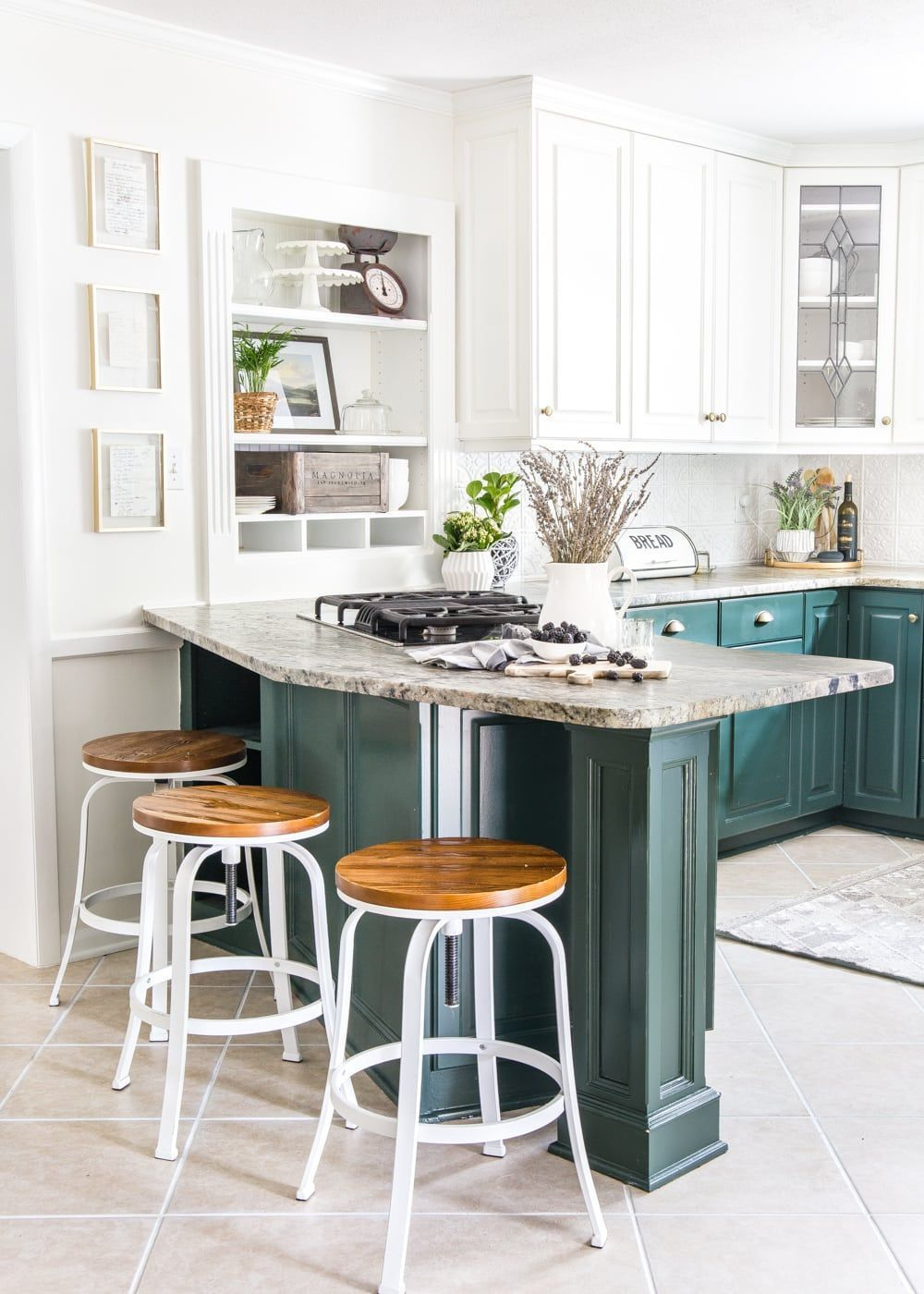 a dated kitchen gets a modern refresh using paint inexpensive diy rh in pinterest com