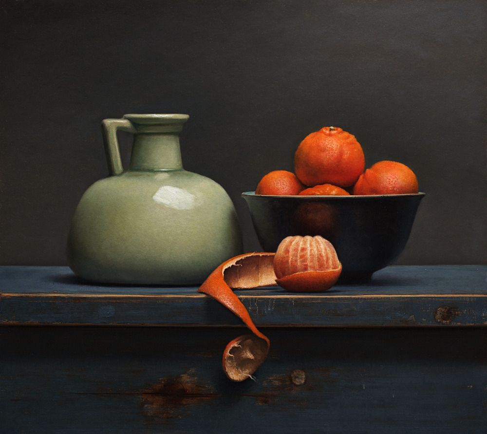 Painting: Still life with clementines. Van Riswick | Art ...