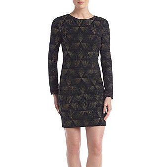 Vince Camuto Geometric Patterned Dress