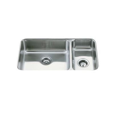 kohler undertone undercounter stainless steel 31 5x18x7 625 2 hole rh pinterest at