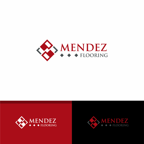 Mendez Flooring Logo In 2020 Business Card Logo Custom Logos Logo Design