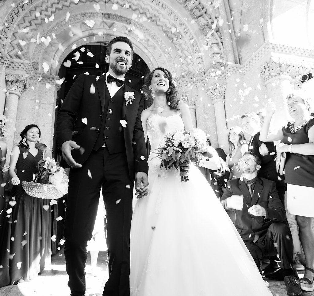 Mariage noir et blanc bonheur
