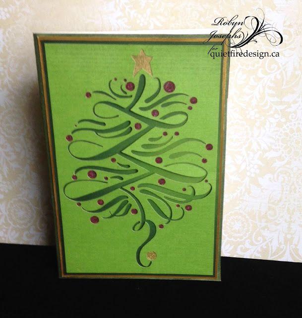 Flourished Christmas Tree Card