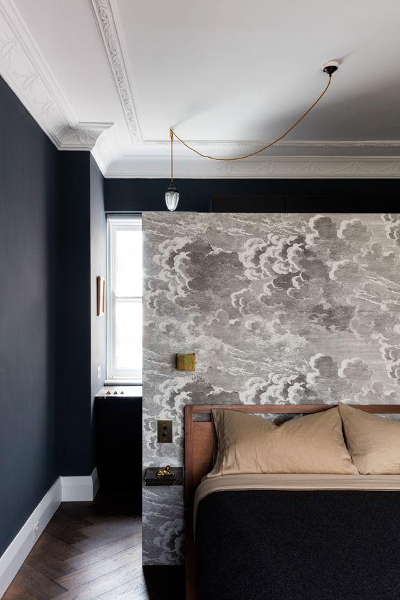 tapete in schwarz wand design bilder, passt zu schwarzen wänden und möbeln: tapete nuvolette aus der, Design ideen
