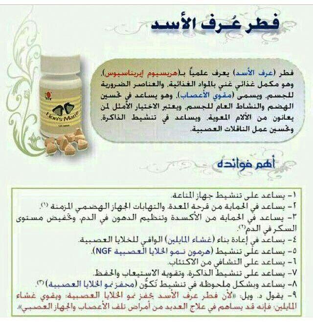 منتجات شركة دكسن فطر عرف الأسد Lion Mane Mane Lions