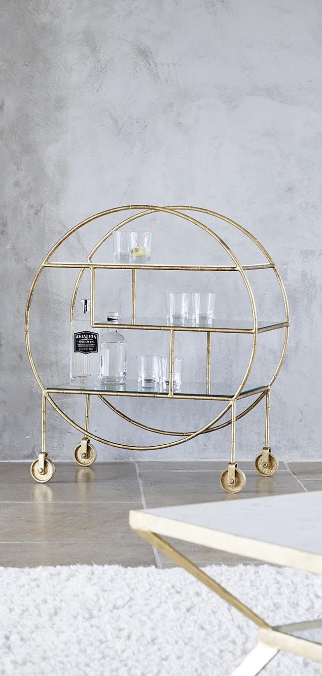 consider yourself invited this luxe round bamboo drinks trolley rh pinterest com