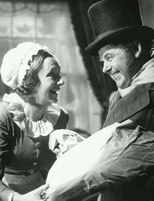real life married couple kathleen lockhart with gene lockhart in a scene from a christmas carol 1938 - A Christmas Carol Movie 1938