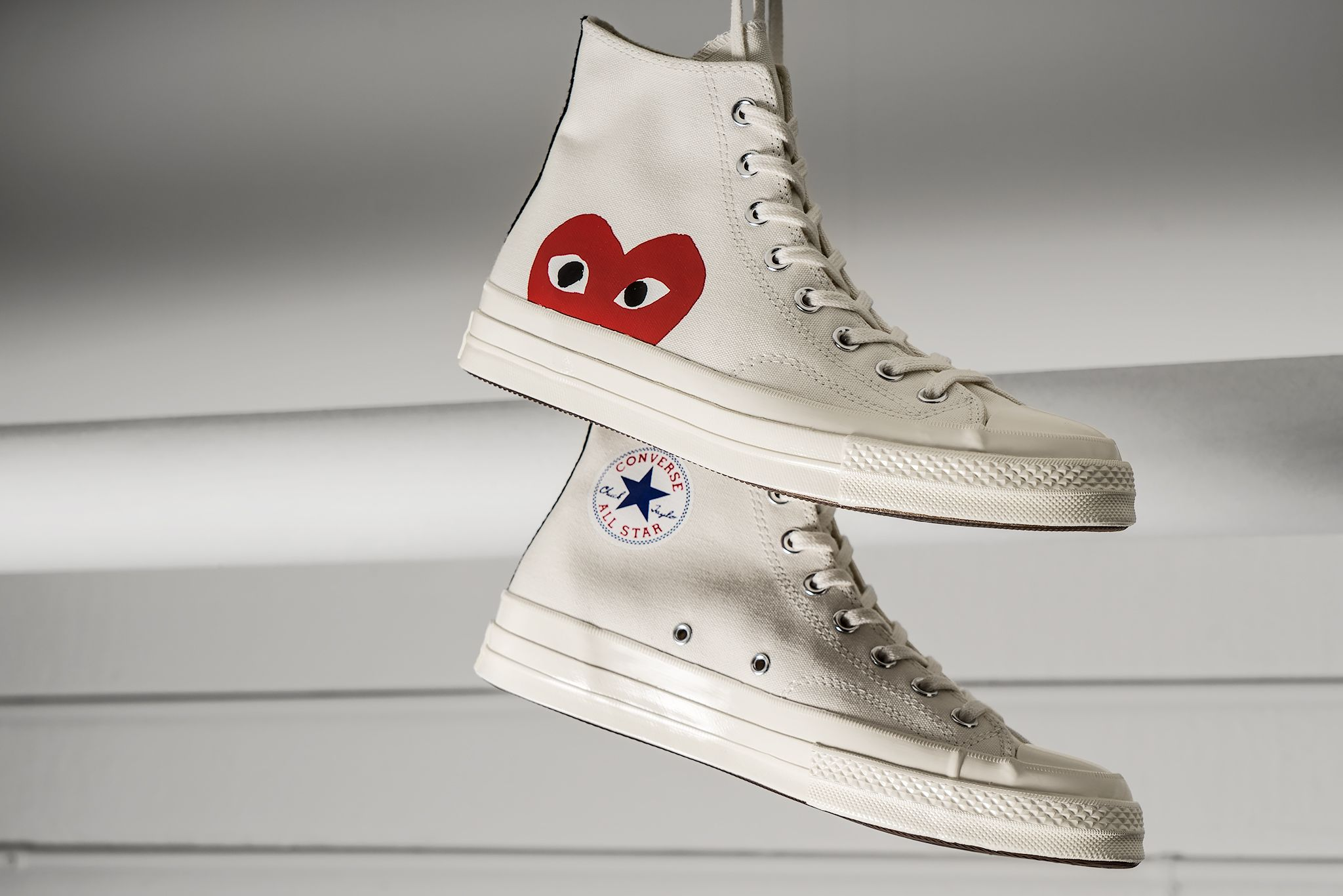 CONVERSE ALL STAR HIGH COMME DES GARCONS PLAY WHITE 150205C ... 4fed181b09