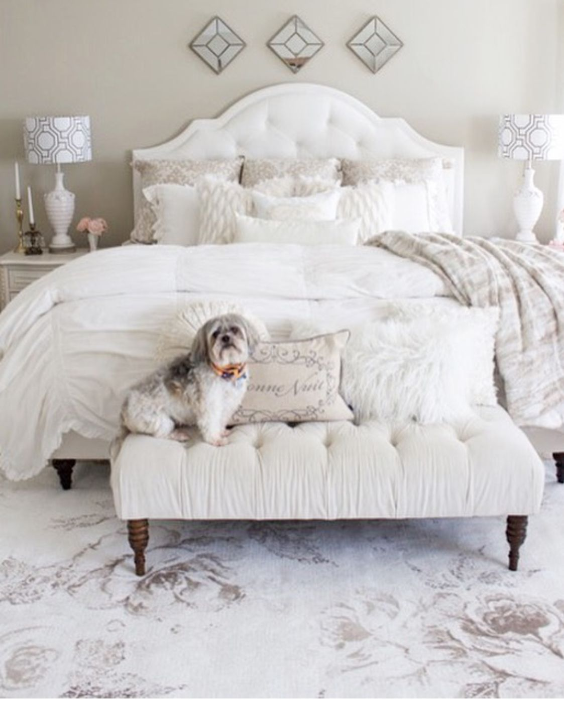pin by peggie baker on bed in 2019 bedroom decor shabby chic rh pinterest com