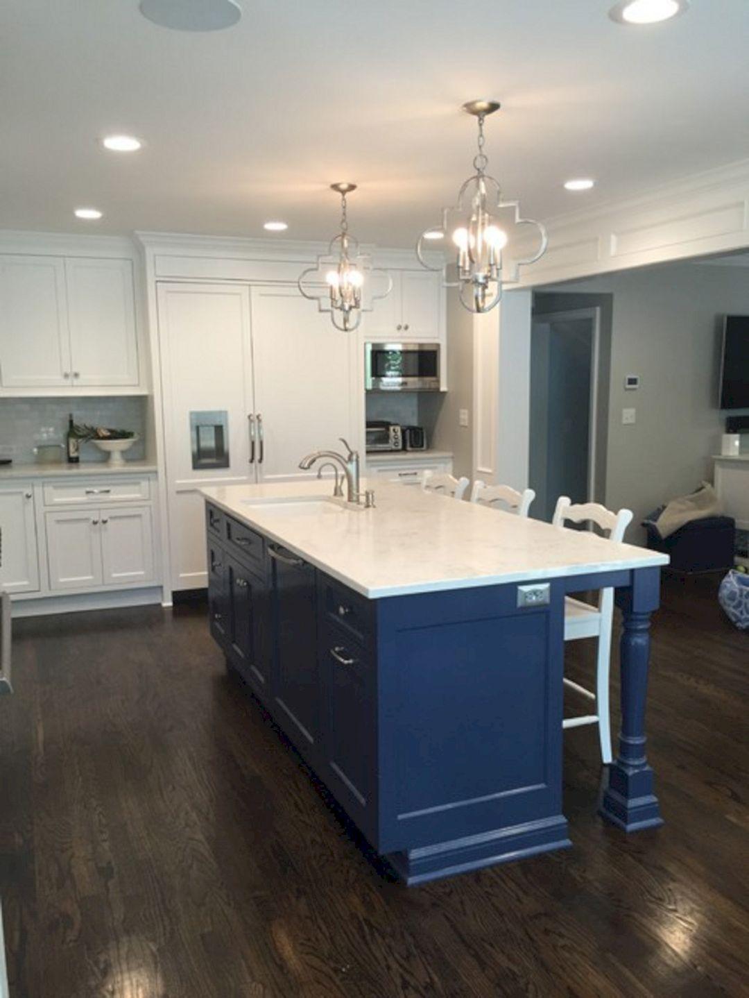 25+ Elegant White Kitchen Navy Island Ideas White