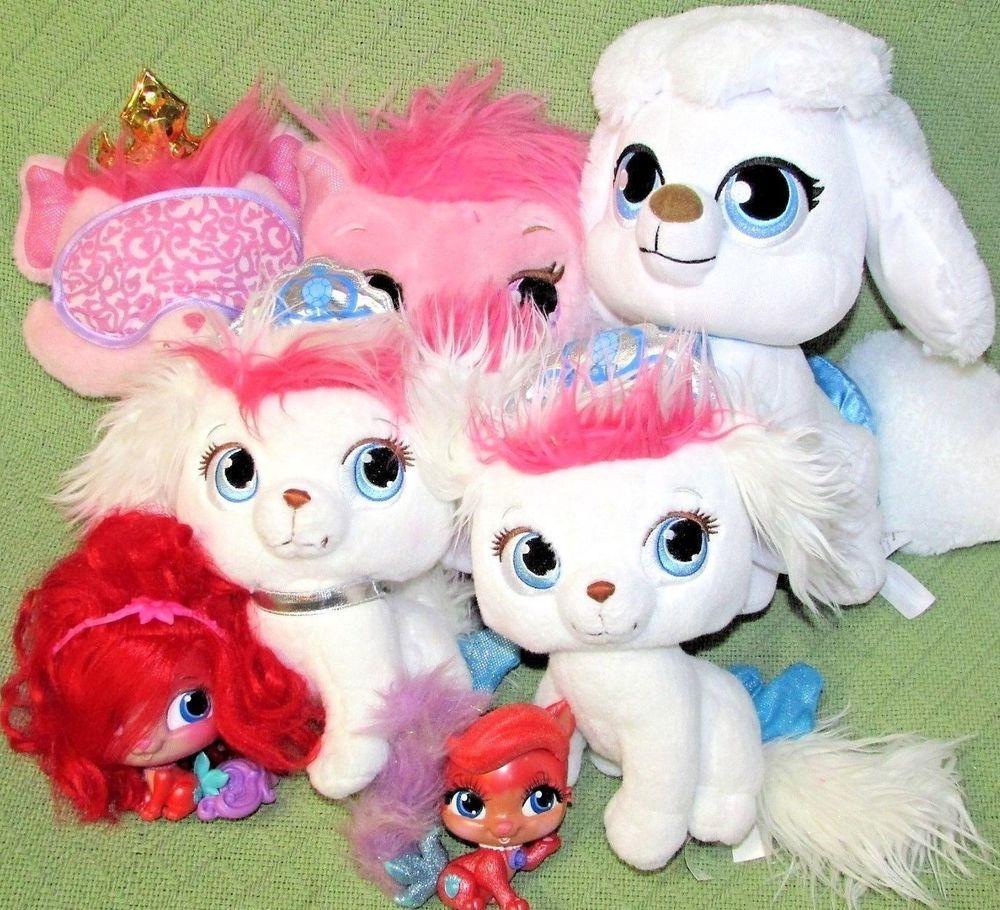 7 Disney PRINCESS PALACE PETS LOT Plush Toys Animal