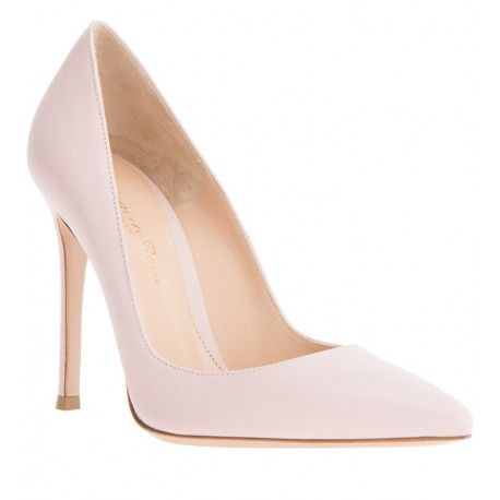 GIANVITO ROSSI Rose pink pointed toe pumps