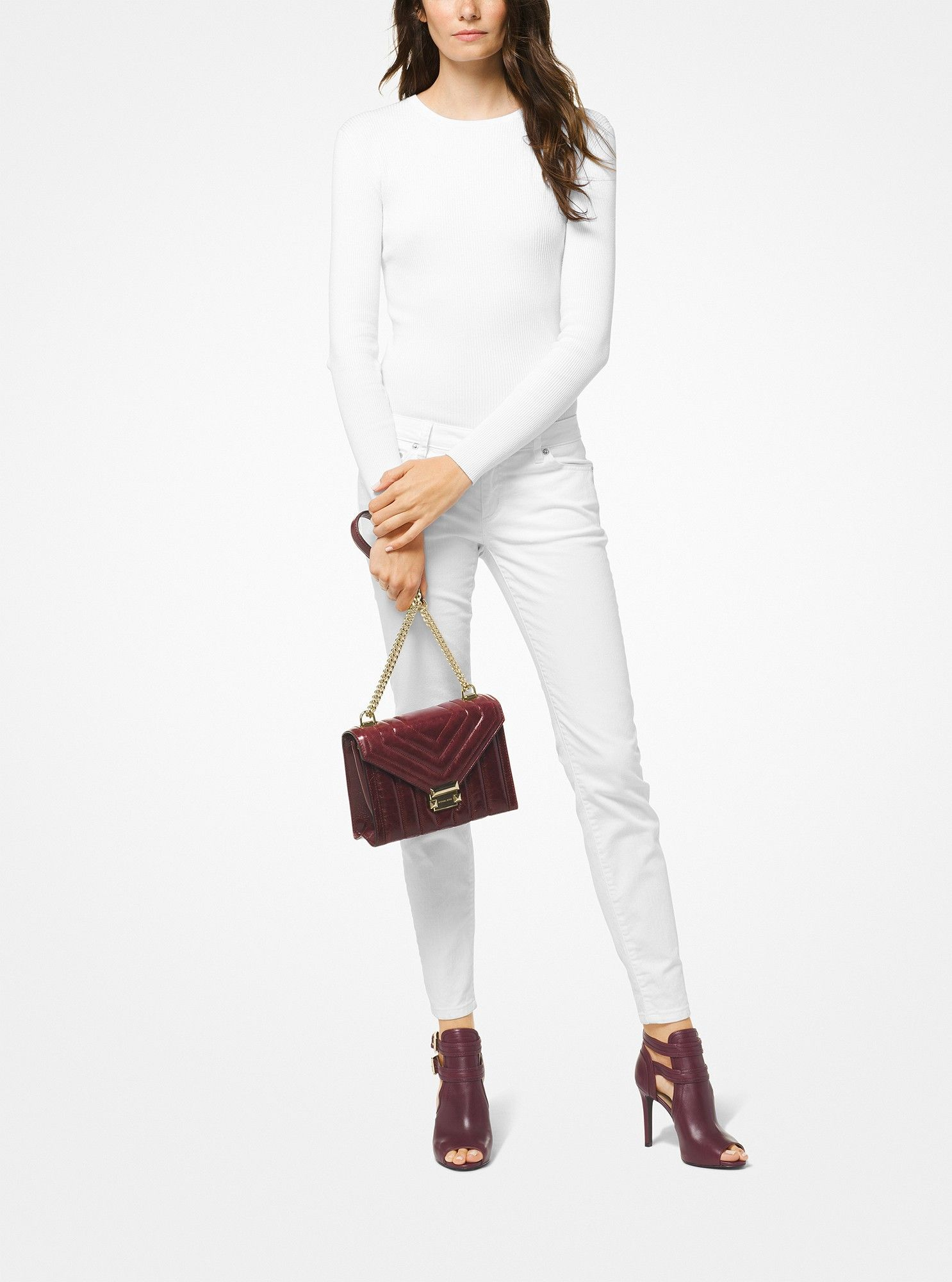 f930fc529730 Michael Kors Whitney Large Quilted Leather Convertible Shoulder Bag -  Oxblood