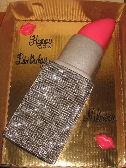 Diamond Wrap Lipstick Cake Hermosas Delicias Pinterest