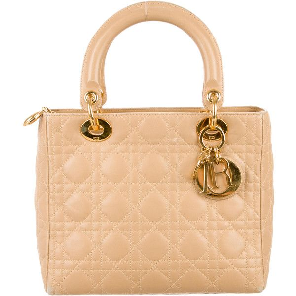 Pre-owned - Lady Dior leather handbag Dior MT0pDh7U