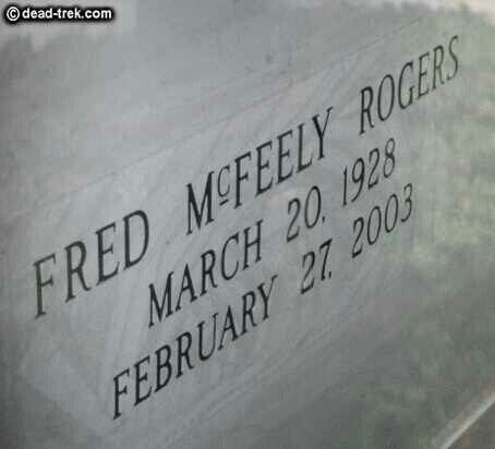 Fred Rogers Famous Tombstones Famous Graves Mister Rogers Neighborhood