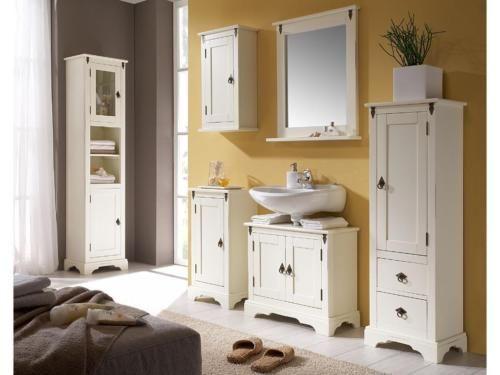 Waschtischunterschrank weiß landhaus  Waschtischunterschrank Landhaus weiß lackiert B67cm NEU in ...
