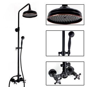 oil rubbed bronze shower head and faucet. oil rubbed bronze bathroom shower faucet set rain kit b123f head and i
