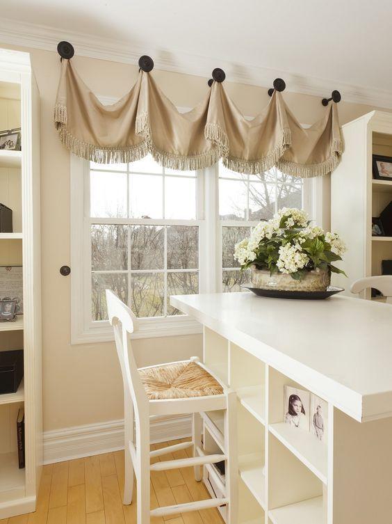 valance fabric window treatments window treatments kitchen rh pinterest com