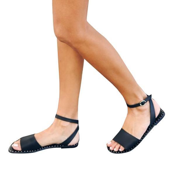db7abc8fbaf9 Chellysun Summer Comfortable strappy Black Wide Strap Suede Buckle Flat  Sandals gladiator leather cute sandals brikenstock plateforme jamaica  flatform ...