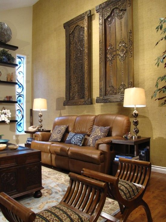 Old Doors Design Ideas Pictures Remodel And Decor Eclectic Living Room Brown Tips
