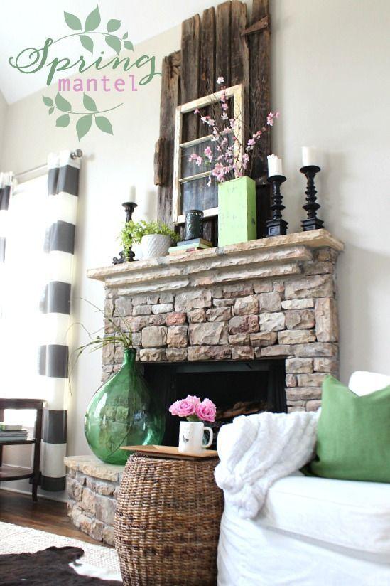 spring mantel at refresh restyle refresh restyle diy rock stars rh pinterest com au