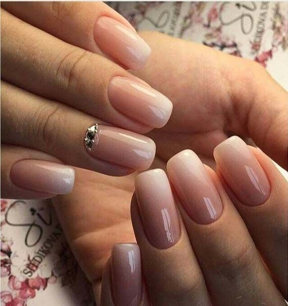 Pink To White Gradient Goodness Nail Design Simple Gel Nails Ombre Acrylic Nails