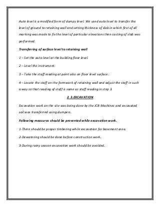 Summer Training Report In Civil Engineering  De