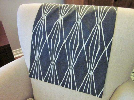 Headrest Chair Protector Or Cover Black By Annmerrilldesigns