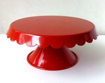 Red Cake Stand & Red Cake Stand | Cake Stands Plates \u0026 Carriers | Pinterest | Cake ...