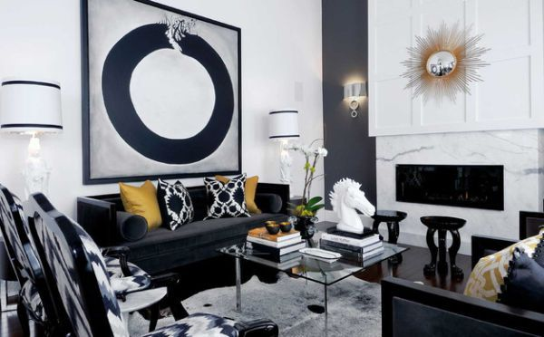 Golden Accents Which Define a Modern Home | Living rooms, Modern ...