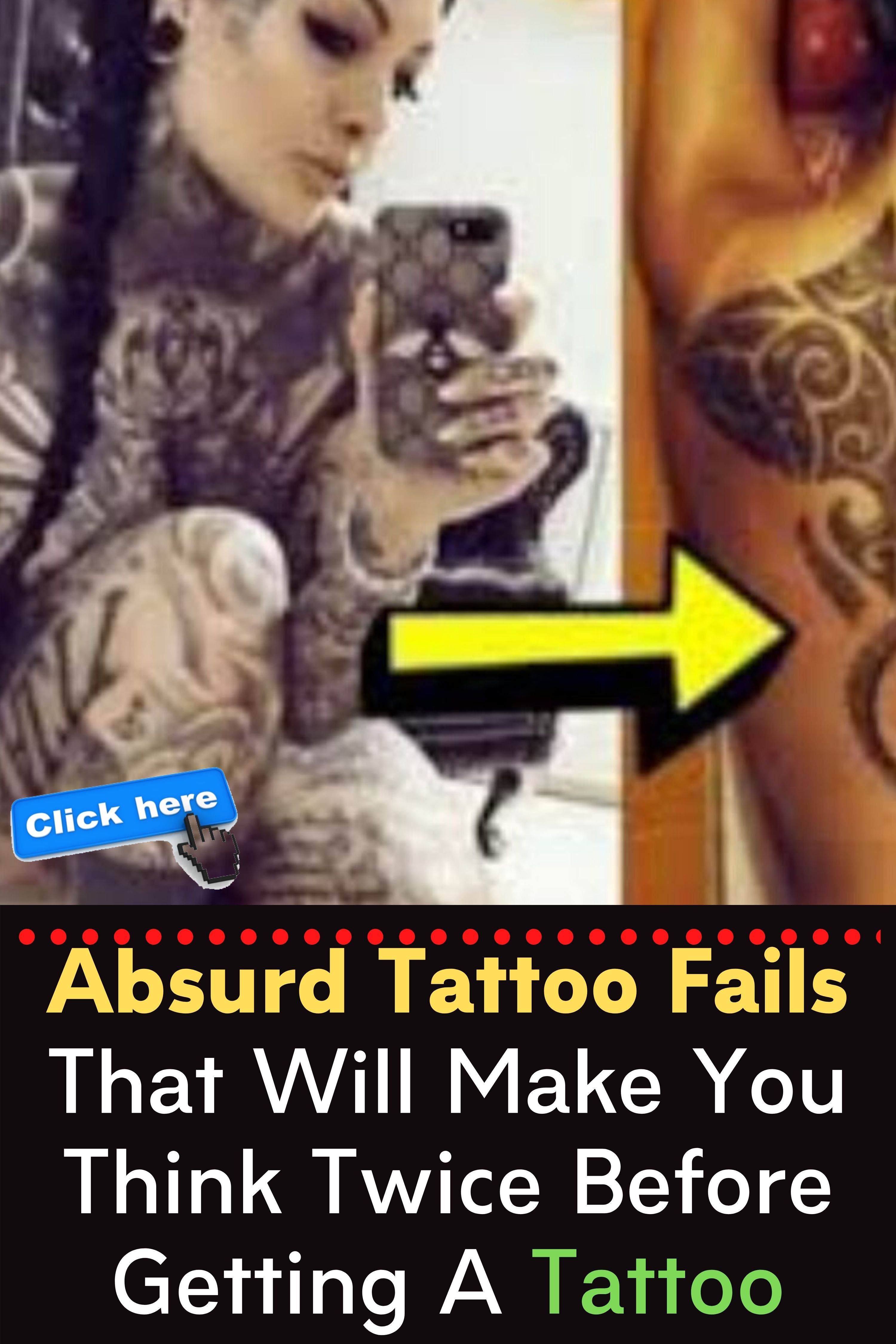 Absurd Tattoo Fails That Will Make You Think Twice Before Getting A Tattoo Tattoo Fails Funny Memes Funny